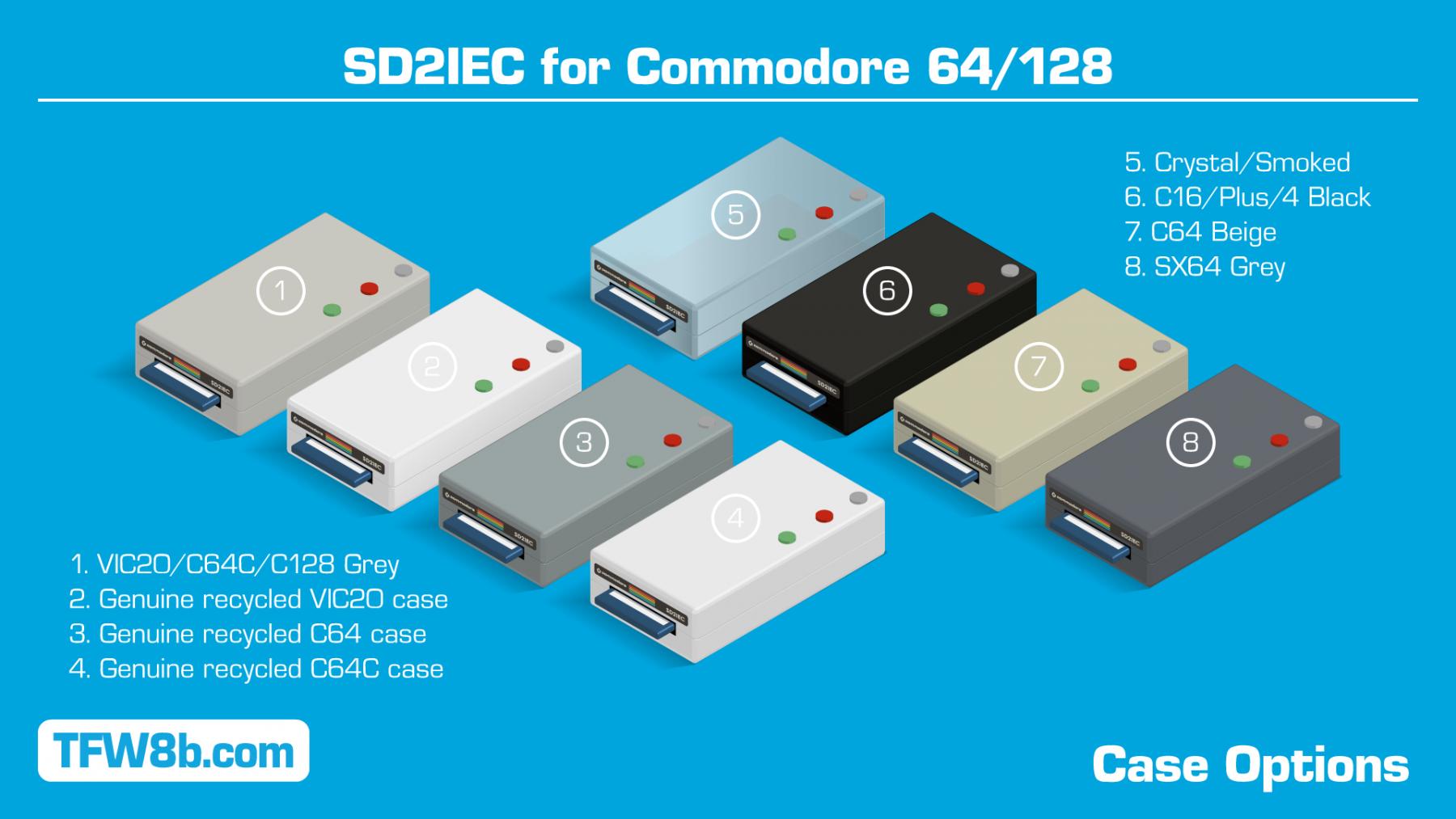 SX64 Style Grey Case SD2IEC - v4 C64
