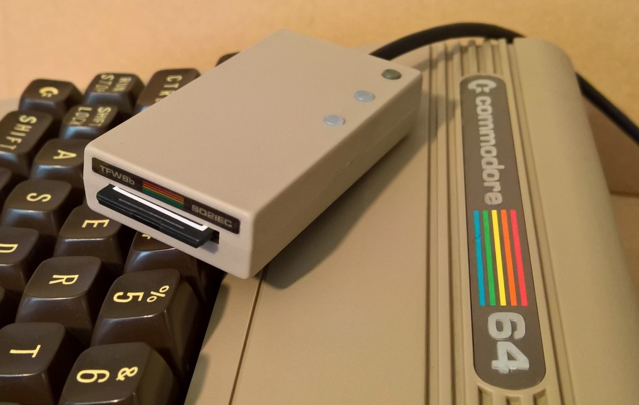 Limited edition recycled C64 ABS Plastic cased SD2IEC