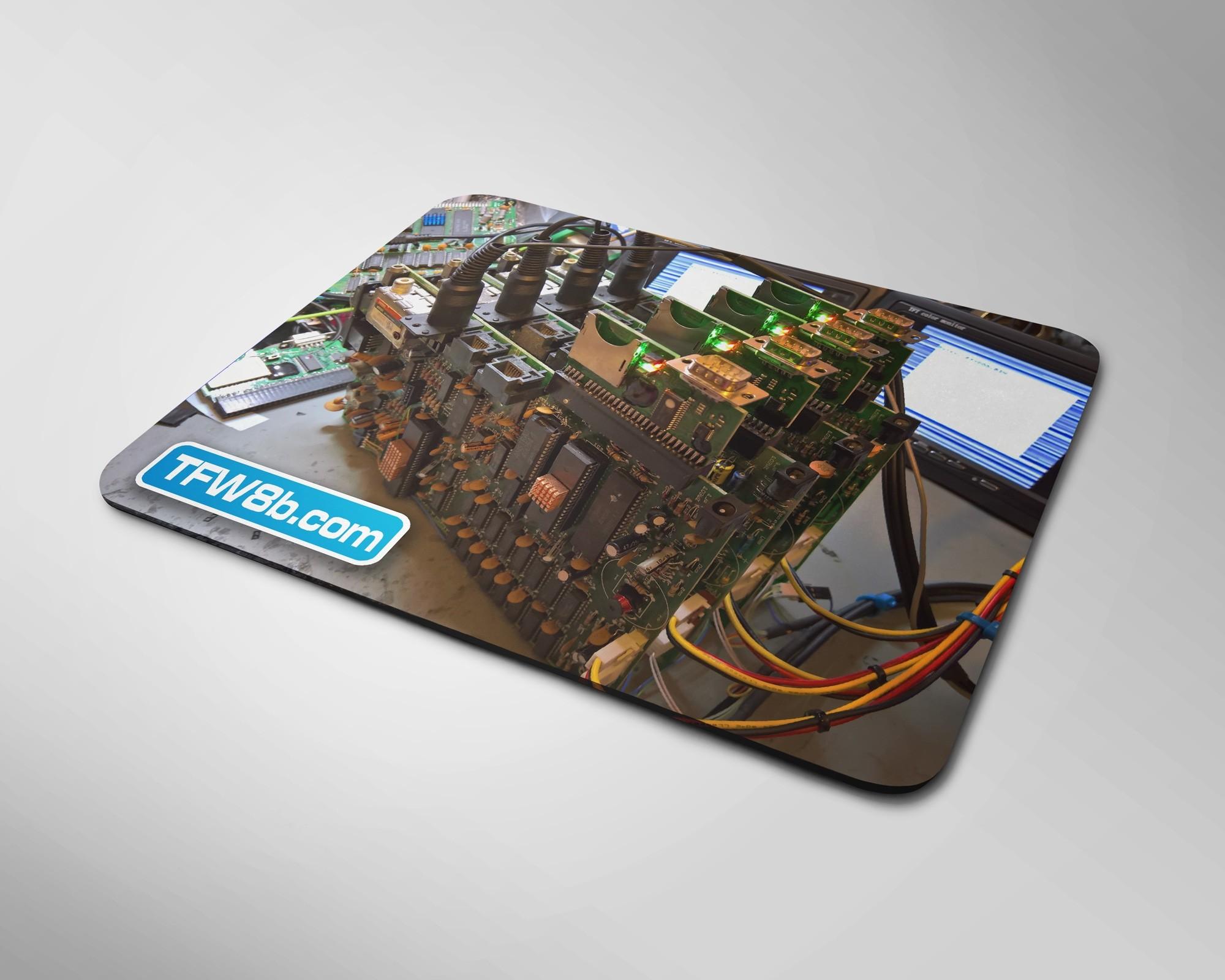 divMMC Future ZX Spectrum test rack mouse mat.