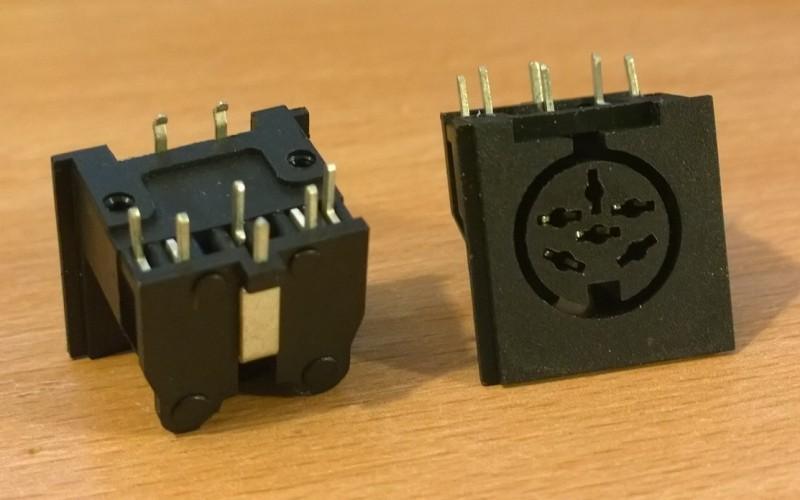 6 Pin Din Plastic PCB Socket