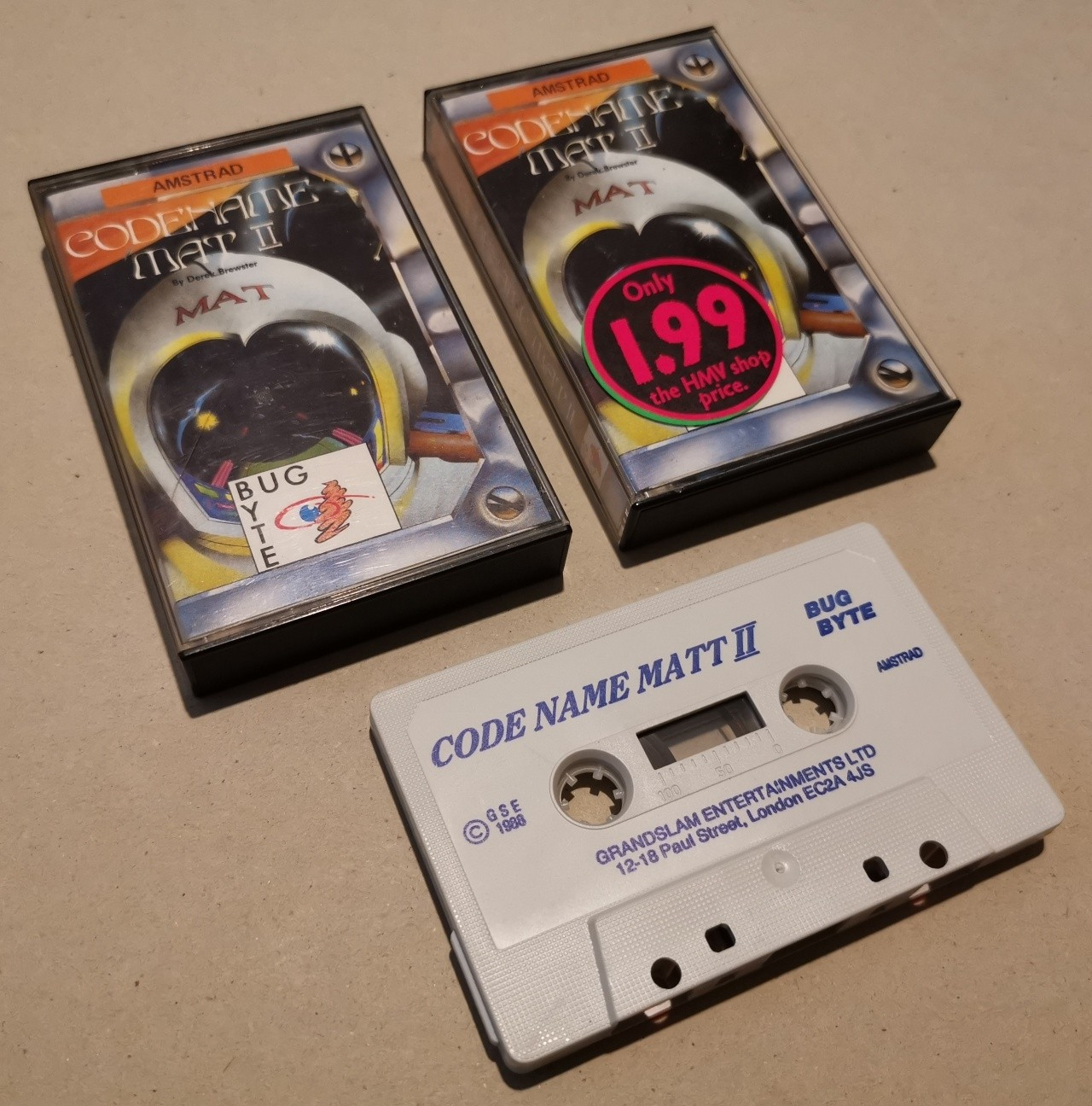 Codename Matt II - BugByte - CPC - Cassette -  NOS