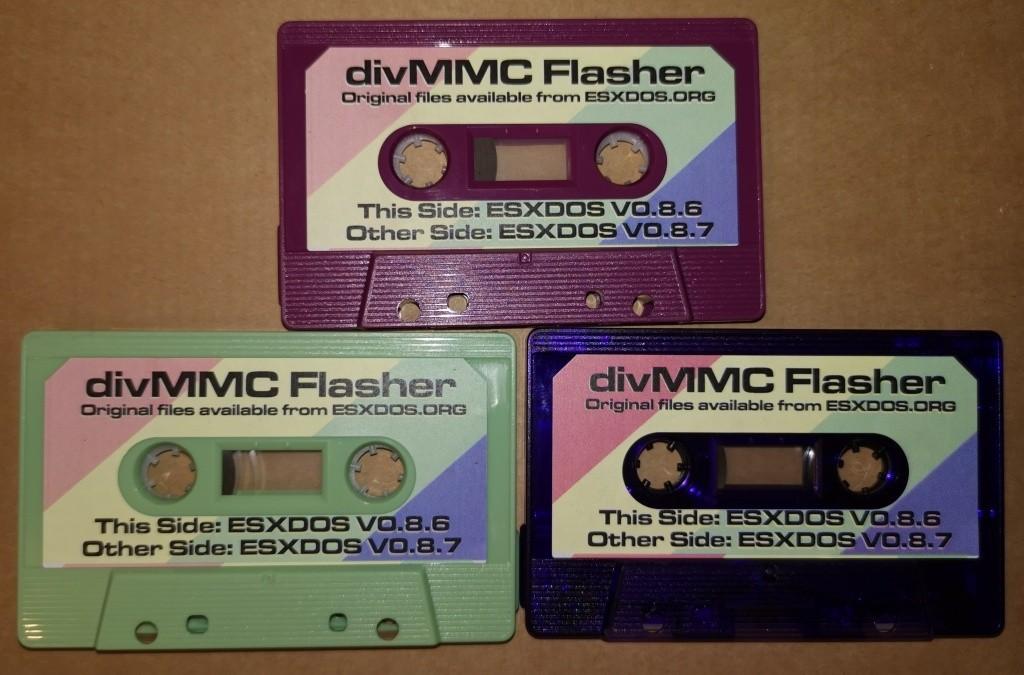divMMC ESXDOS Flasher/ReFlasher Cassette