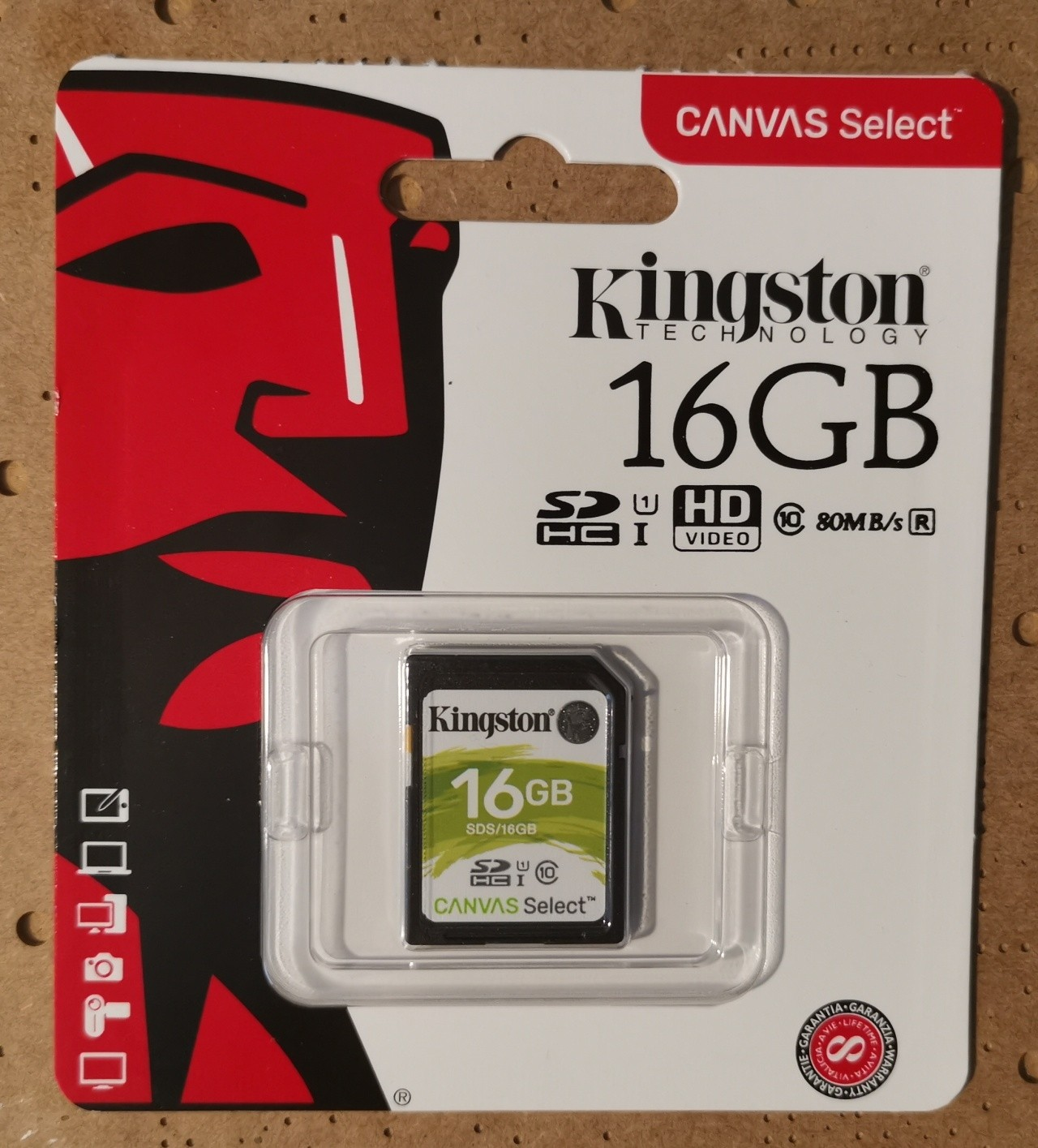 Kingston 16GB Full Sized SD Card
