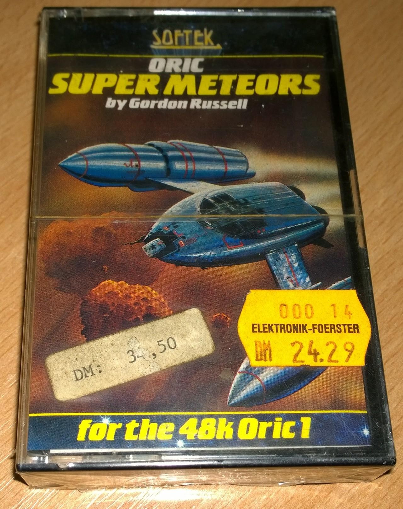 Super Meteors - Oric - Softek - NOS