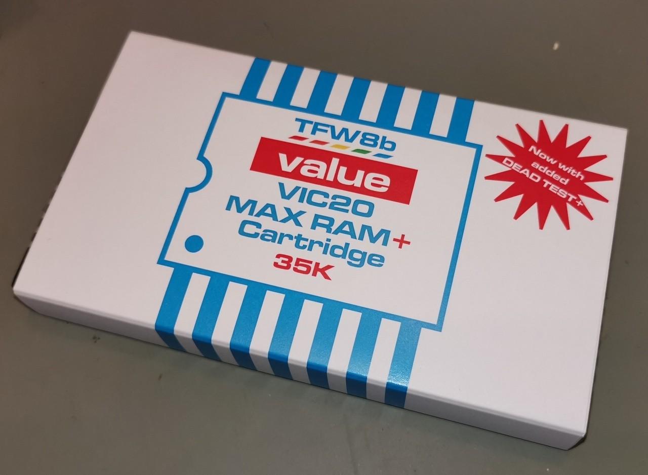MAXRAM+ Cartridge - VIC20 0k 3k 8k 16k 24k 32k 35k Ram Pack