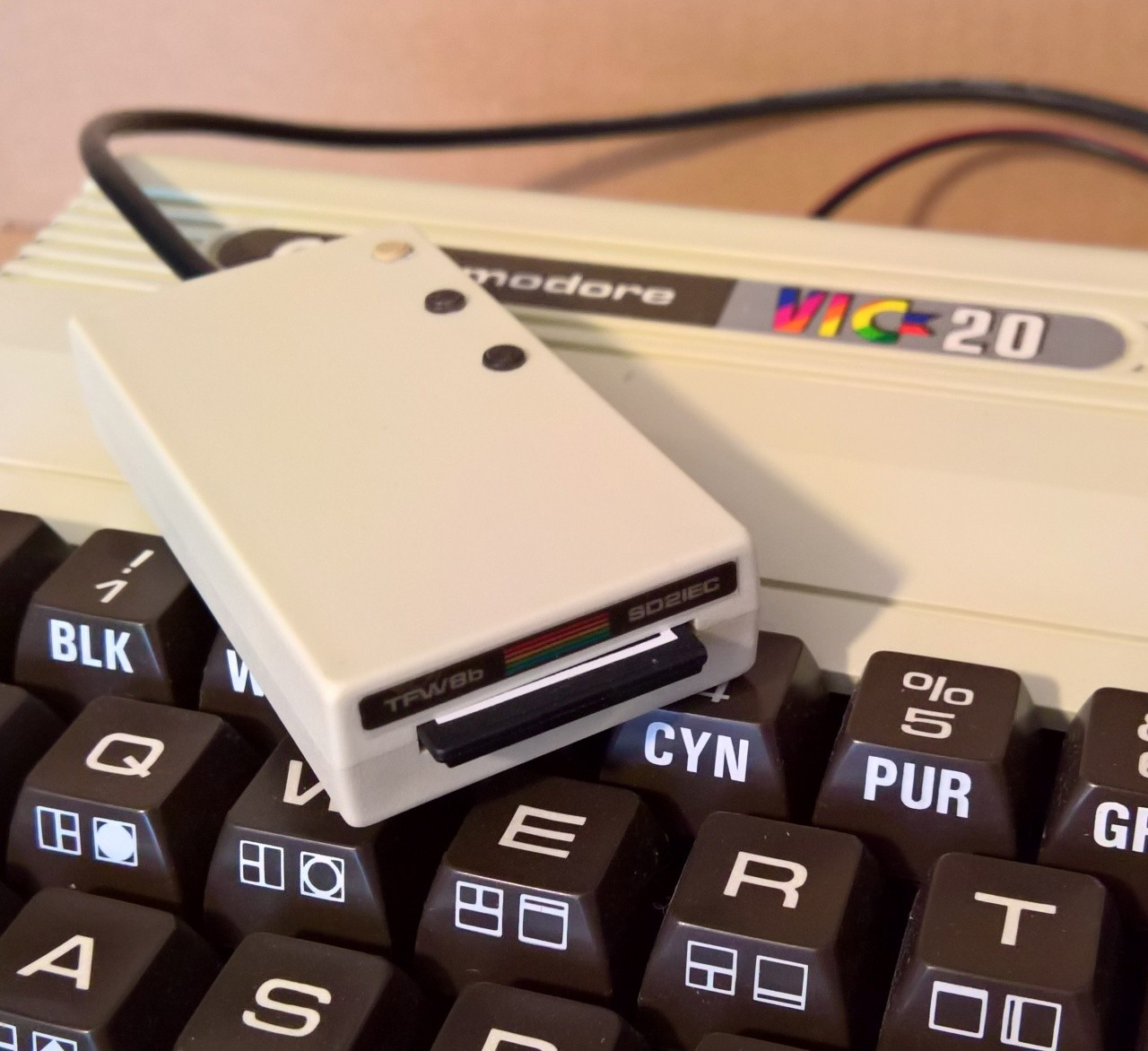 SD2IEC Made from recycled VIC20 ABS plastic