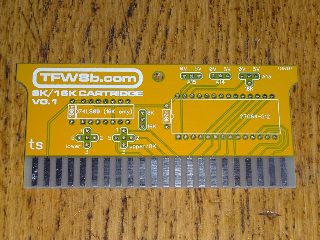 Commodore VIC20 8k16k ROM Cartridge PCB