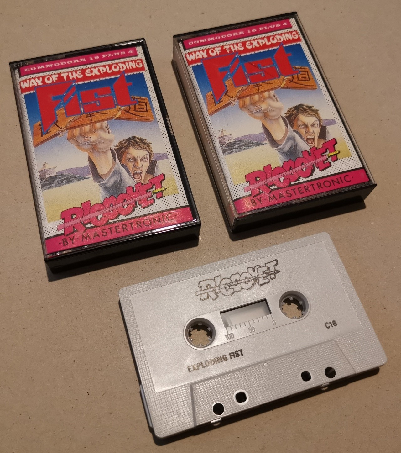 Way of the Exploding Fist - Ricochet - Commodore C16 & Plus4 - Cassette -  NOS