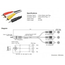 3.5mm - RCA Cable
