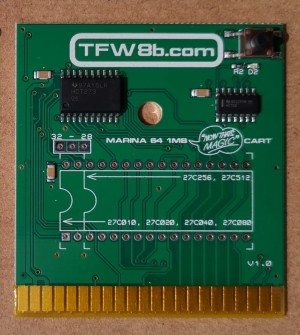 Marina 64 - Magic Desk Compatible - 1MB C64 Banked Cartridge PCB