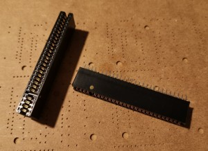ZX Spectrum Edge Connector - Cut and Pinned