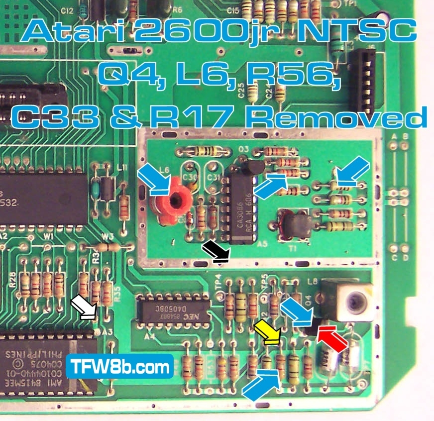 Atari 2600jr NTSC Composite Video Mod