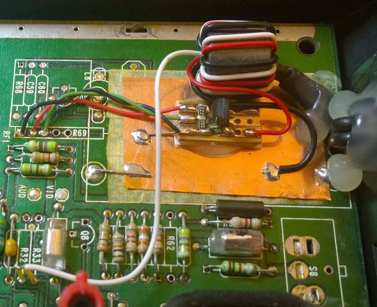 Atari 7800 PAL Composite Mod