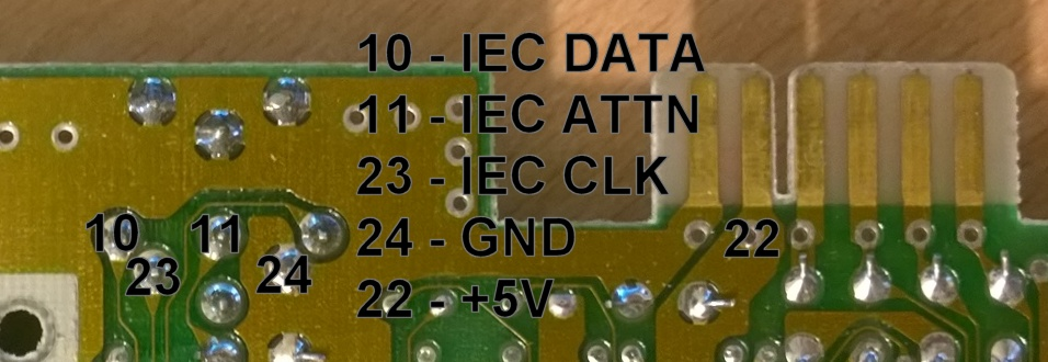 SD2IEC Classic connections C64 PCB