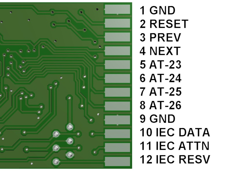 SD2IEC Classic connections BOTTOM