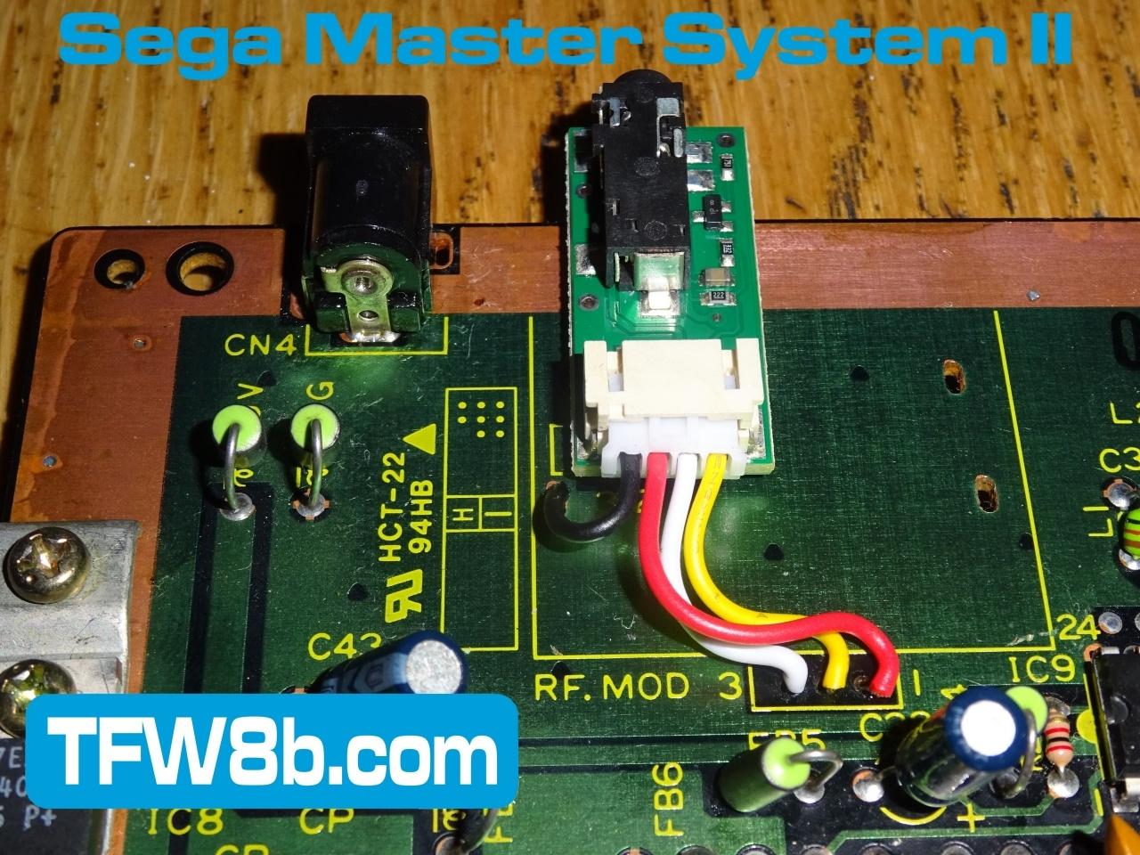 TFW8b.com Sega Master System II Composite Mod